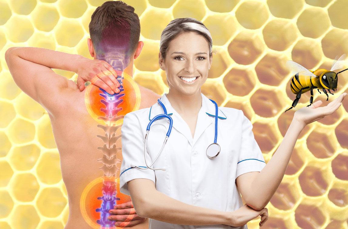 Лечение апитерапией болезней суставов